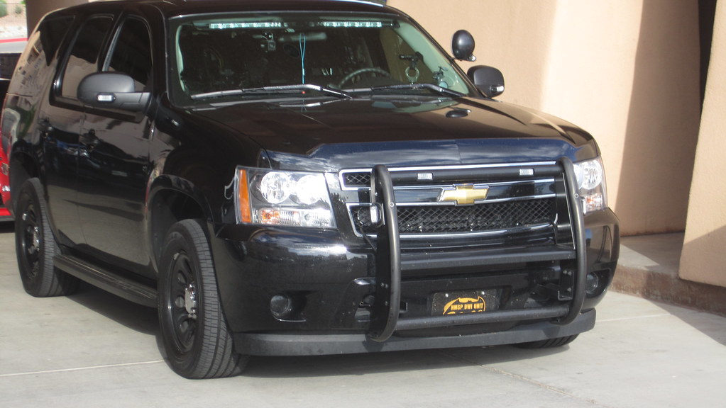 NMSP Unmarked Tahoe | DWI Unit Recessed LEDs on push bar ...
