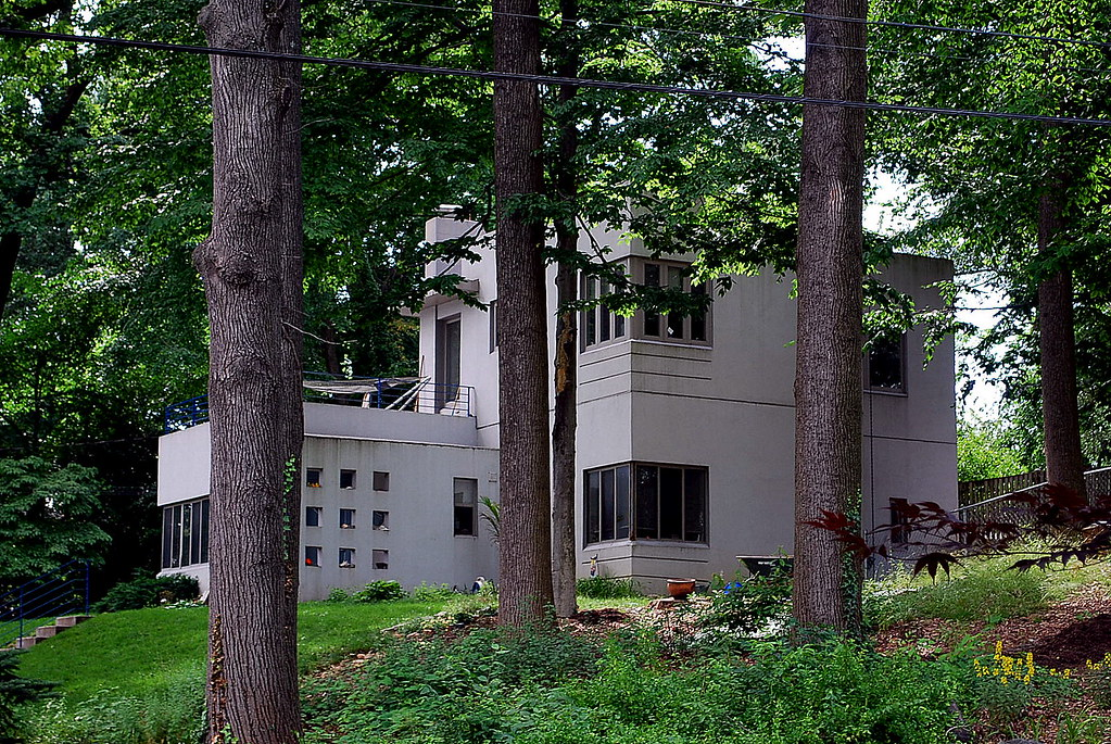 Bauhaus Y International Style House Silver Spring Md Flickr