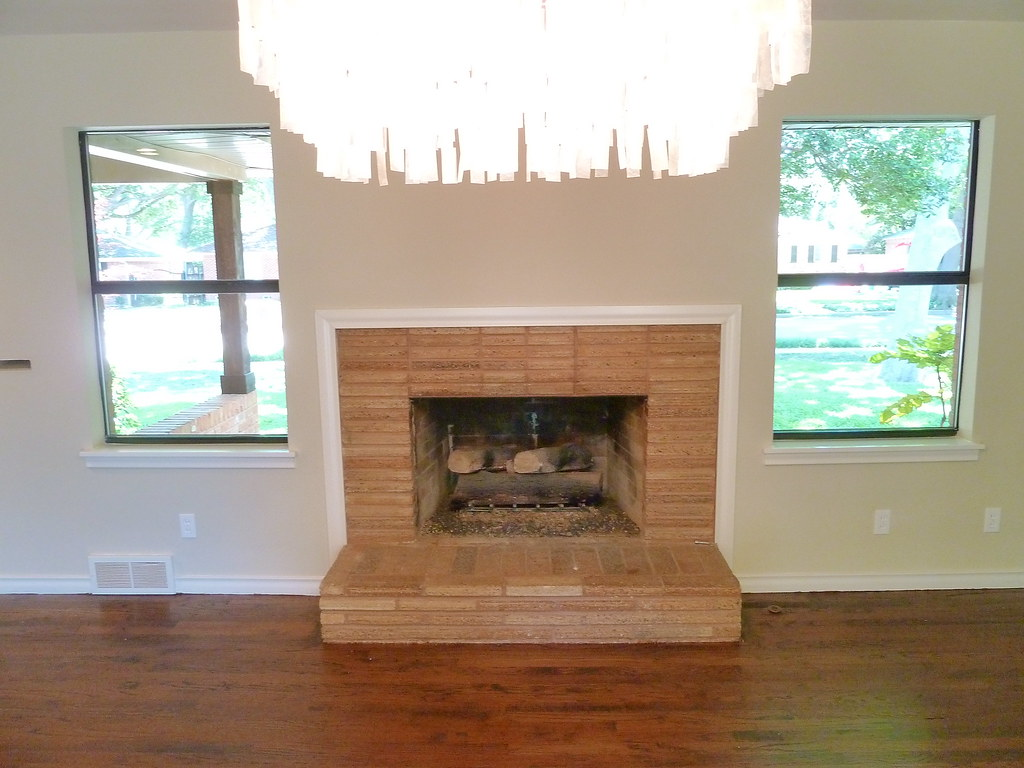 how to freshen the inside of your fireplace with paint