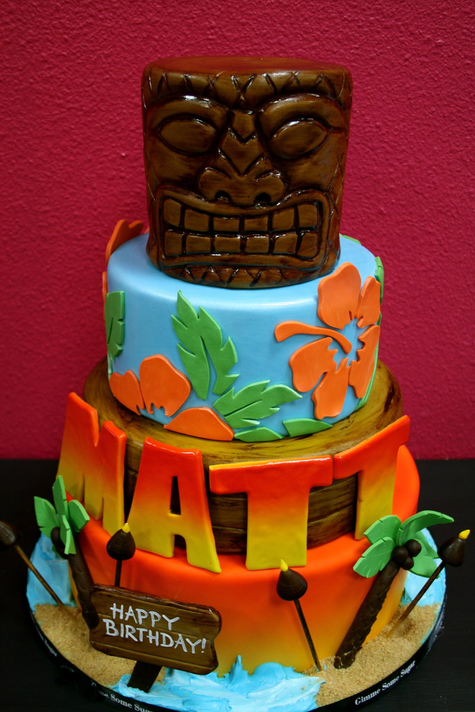 Luau Birthday Cake Pictures
