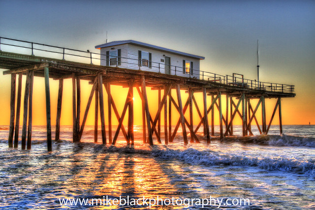 Belmar fishing pier hdr explore mike black photography 39 s for Belmar nj fishing