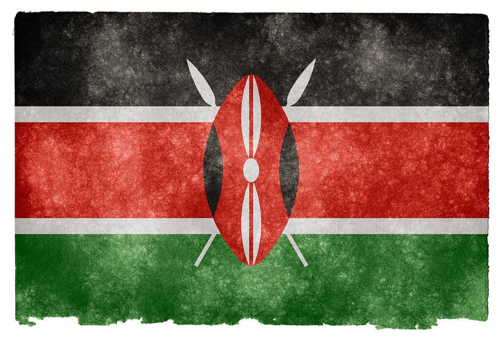 kenya grunge flag grunge textured flag of kenya on