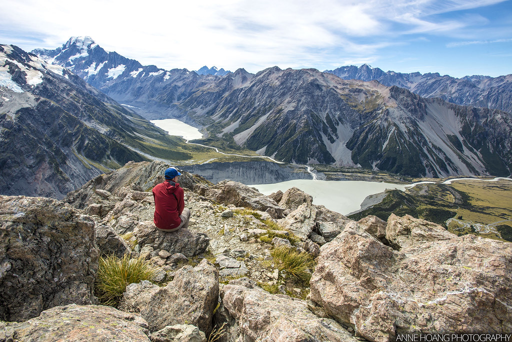 View at the Saddle at Mueller Hut track