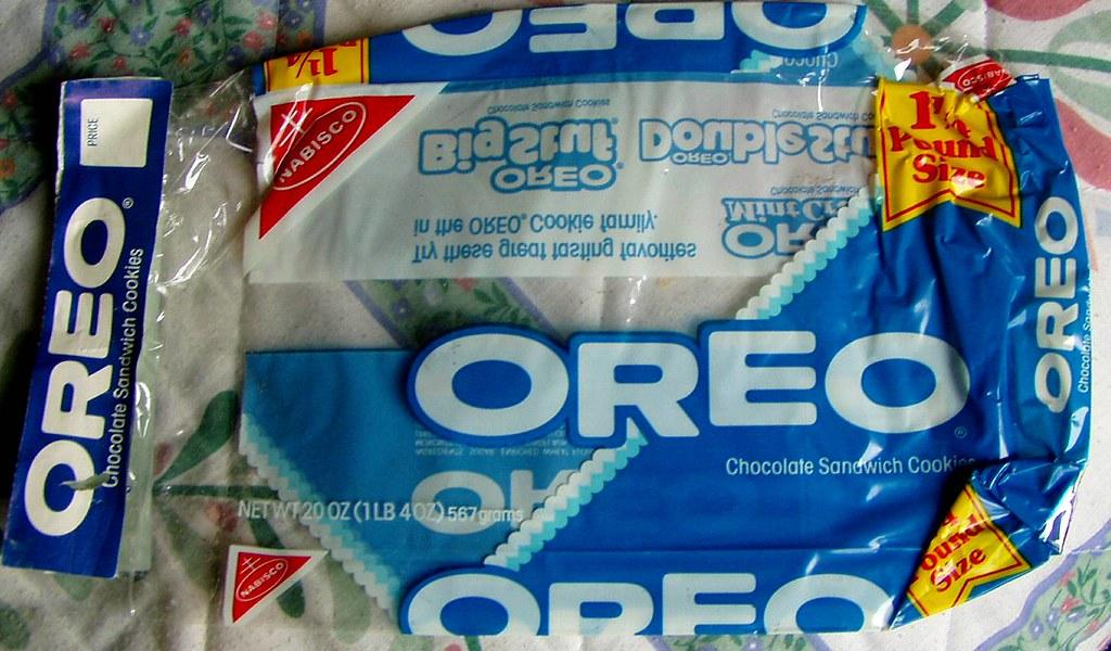 mid 1980s Oreo bag   t... White Paper Bag