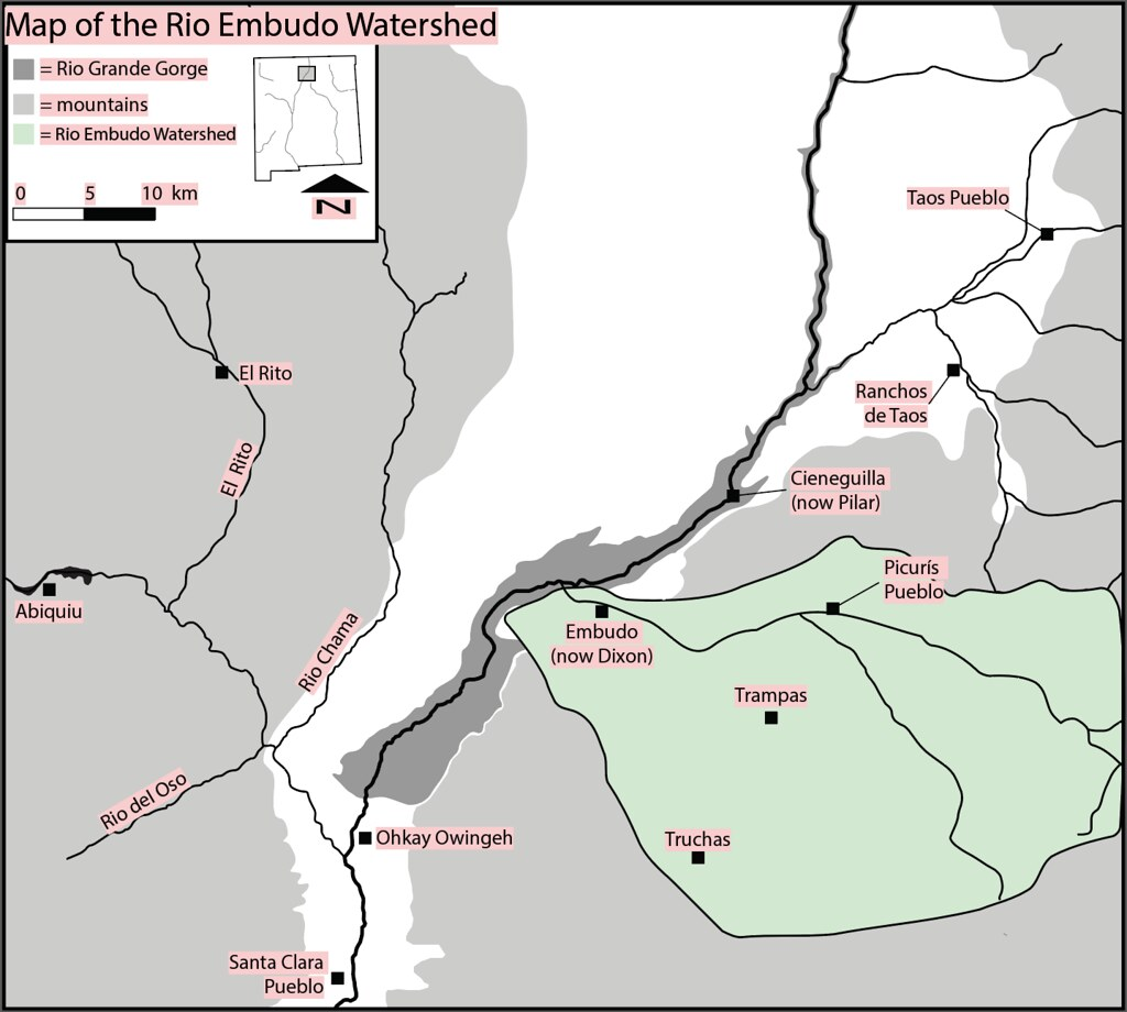 Map of the Rio EMbudo Watershed 6:8