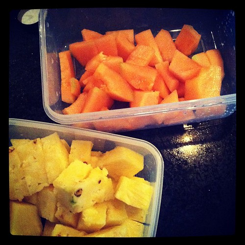 Tons of pineapple + melon | by Star Monroe
