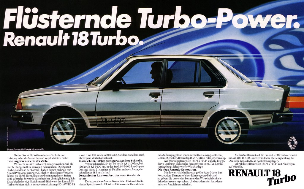 renault 18 1981 turbo power fl sternde turbo power. Black Bedroom Furniture Sets. Home Design Ideas