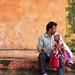 Puppet-seller, Amber Palace, Jaipur, Rajasthan.