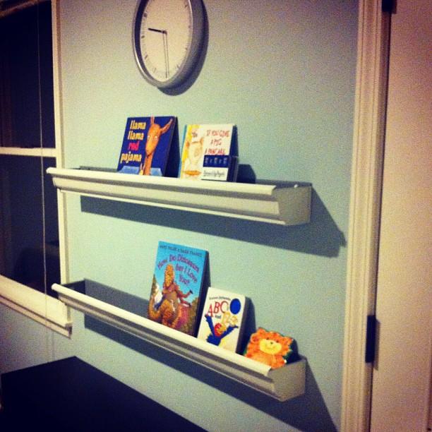 Another Project Complete! Rain Gutter Bookshelves