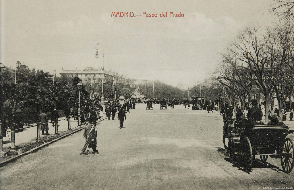 Madrid paseo del prado postales de madrid fotpia for Calle prado 9 madrid
