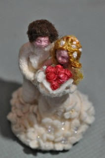Wedding Cake Topper needle felted fiber art | by daria.lvovsky