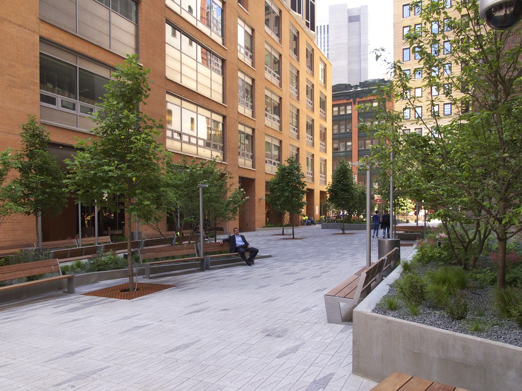 Beekman plaza two plazas designed by field operations for 9 square matrix architecture