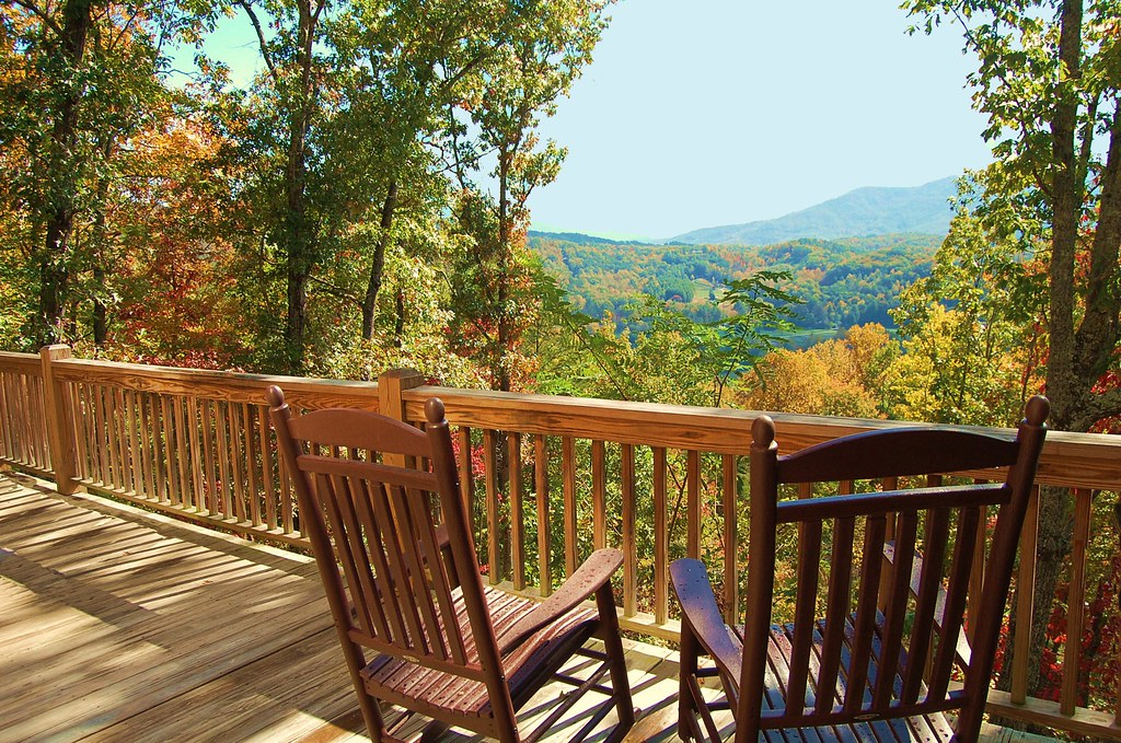 Rocking Chair Porch | A Smoky Mountain View In Bryson City Tu2026 | Flickr