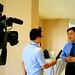 ASEF Director for Public Affairs interviewed by Vietnam Television during the workshop in Hanoi