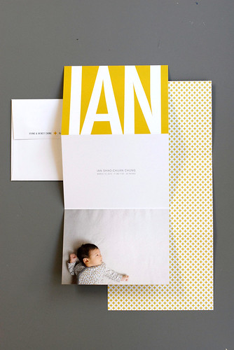 ian's birth announcement | by dozidesign