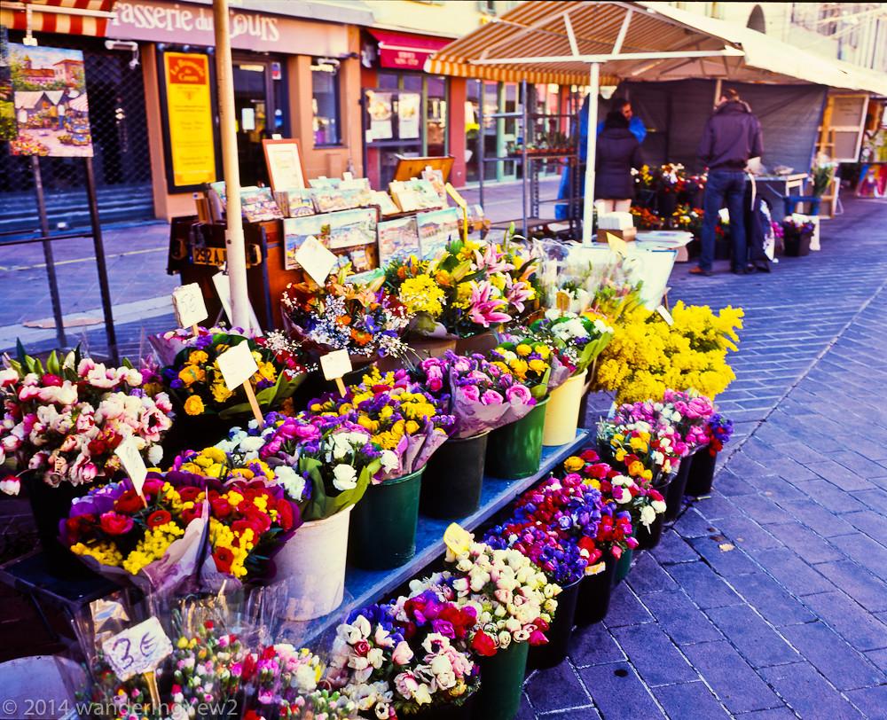 Nice france cours saleya marche aux fleurs 2 alfred for France fleurs