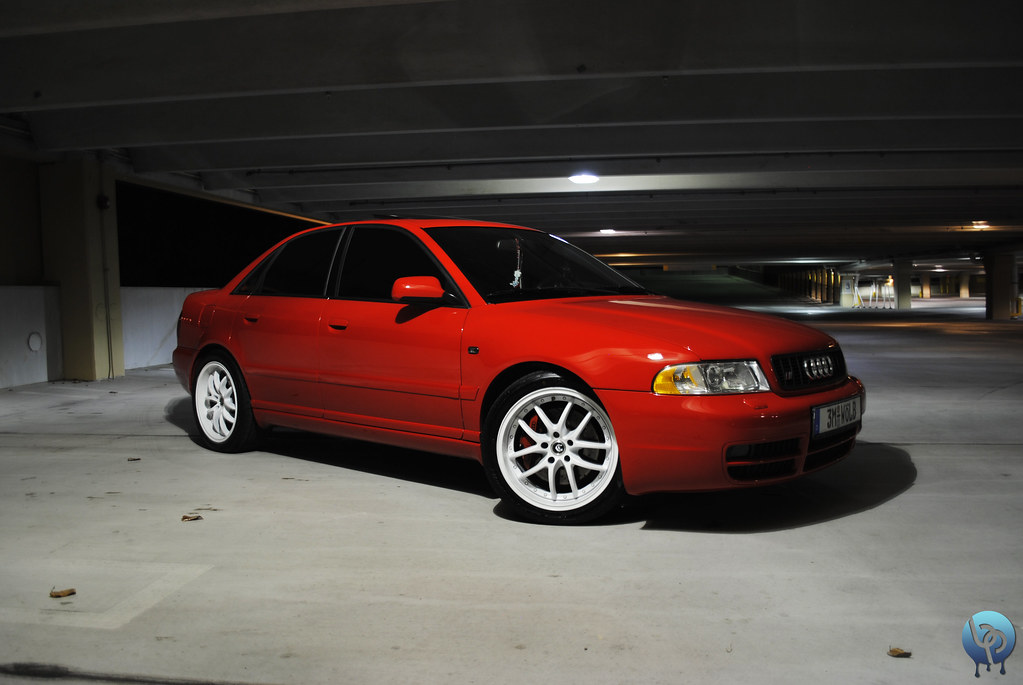 Laser Red B5 S4 w/ White Wheels | Plastidipped thanks to ...