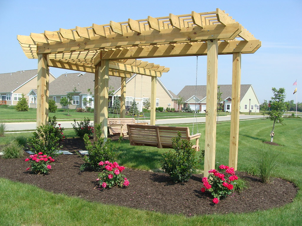 Pergola Swing Pergola And Swing Sundowngardens Flickr - 100+ [ Pergola Swing ] Pergola With Swings And Fire Pit Home