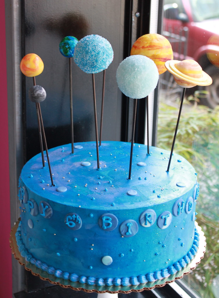 Outer Space Cake Toppers