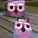 Lined Zippy pouch to match the Geeky Owl Bag