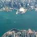 Flying over Hong Kong China