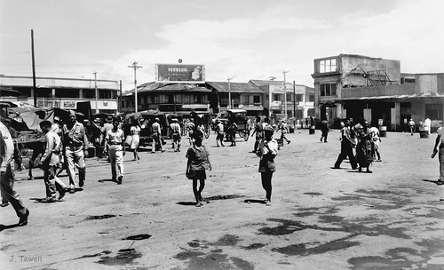 Plaza Miranda in front of Quiapo church, Manila, Philippines, 1945-1946 | by J. Tewell