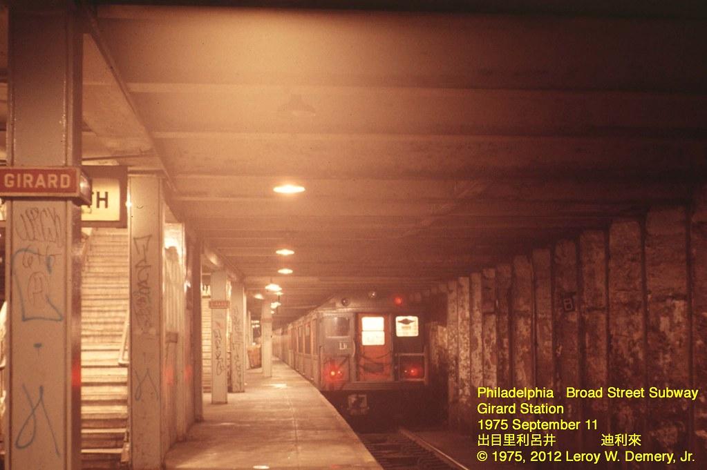 Girard Station Broad Street Subway Philadelphia 1975