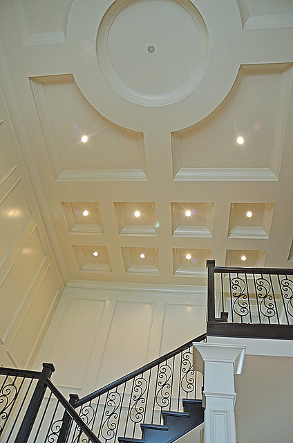 A Dramatic Modern Coffered Ceiling Design Flickr