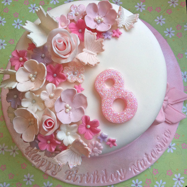 Floral Birthday Cake Decorations