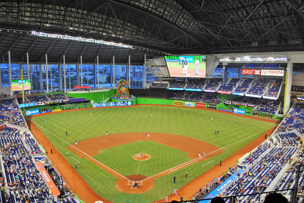 Miami Marlins Park Took The Kids To The Second Ever Game