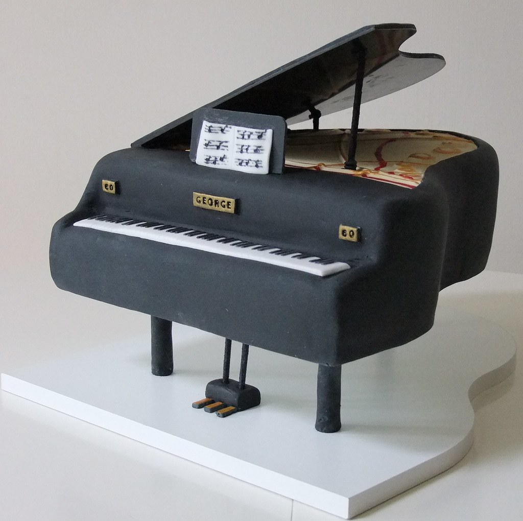 Piano Lavoro Cake Design : Grand Piano Cake All cakes created by The Cake Lady ...
