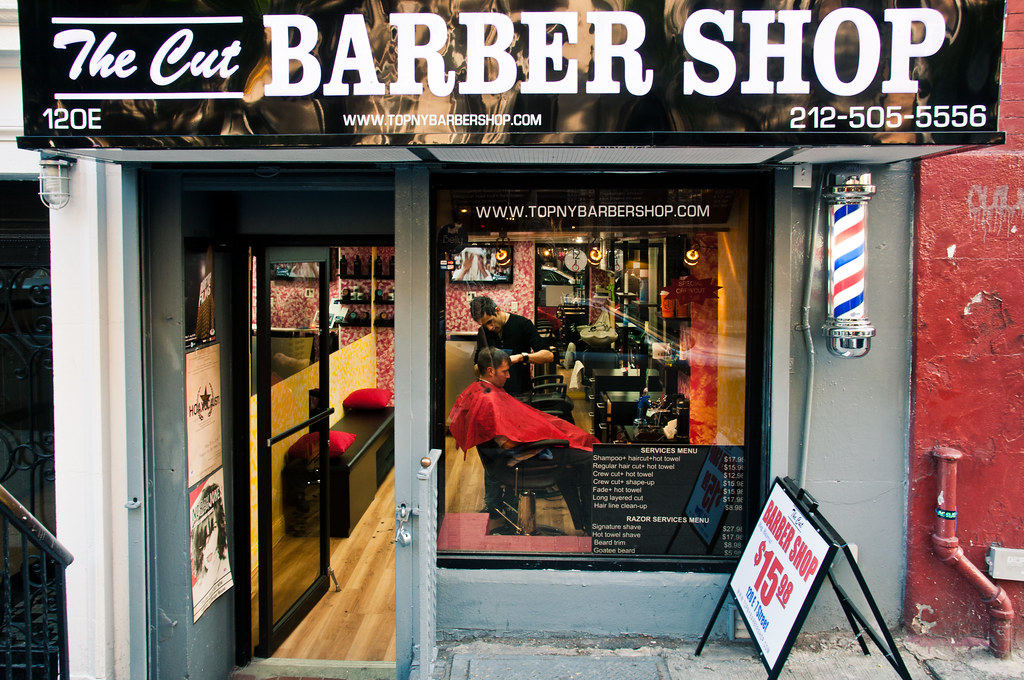 Barbers Pole East Village, New York Walking through the E ...
