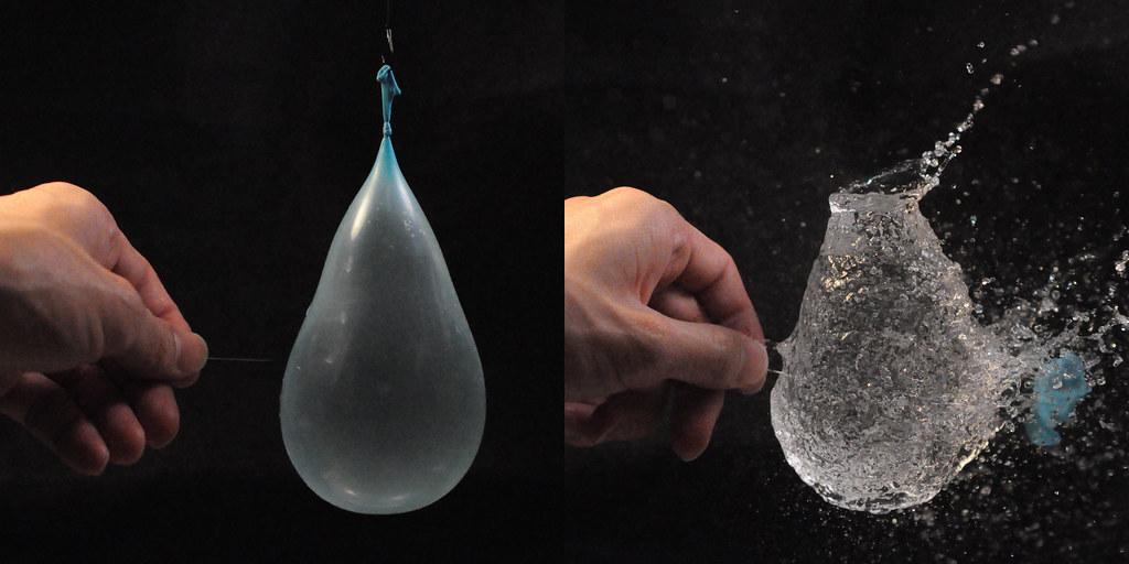 burst a water balloon ...