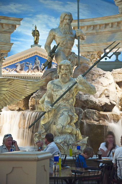Statues of zeus and neptune flickr photo sharing for Garden statues las vegas nv