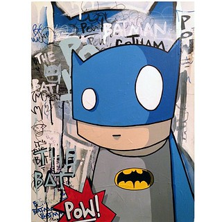 """Bat's My Man"" for Villians and Superheroes at Gristle Tattoo 178 N8th st BK,NY. June 28th 7-10pm #robotswillkill #rwk 