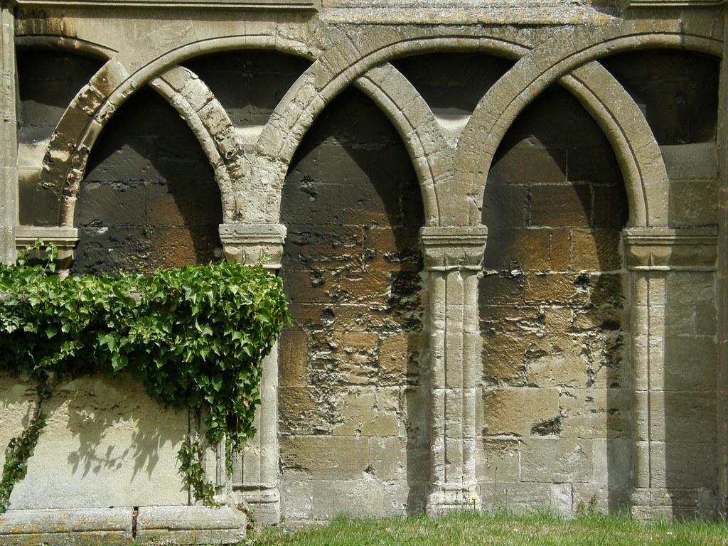 Blind Arcade On Malmesbury Abbey