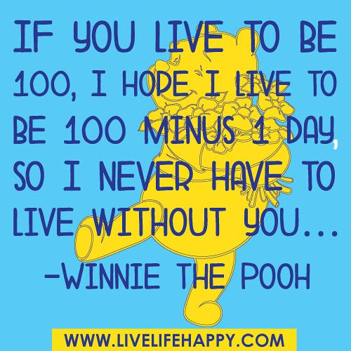 If You Live To Be 100 I Hope I Live To Be 100 Minus 1 Da