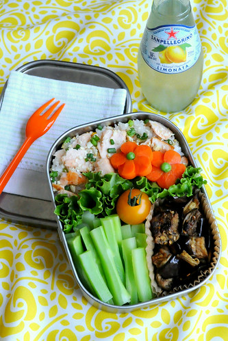 salmon yuzu rice bento | by gamene