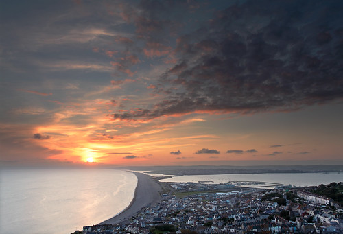 Chesil's Sunset Stretch | by Tony Gill
