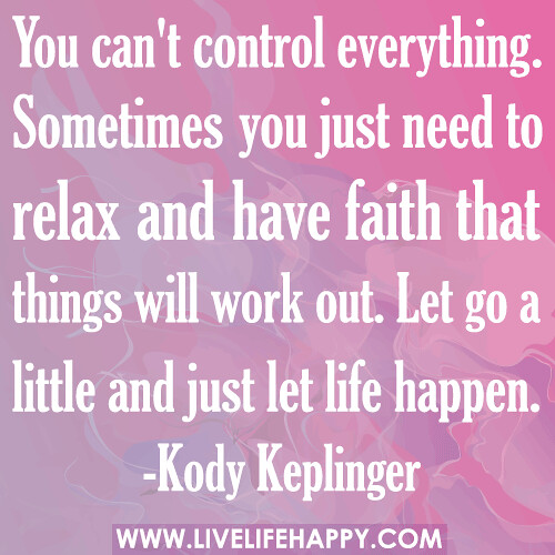 Quotes About Things You Can T Have: You Can't Control Everything. Sometimes You Just Need To R