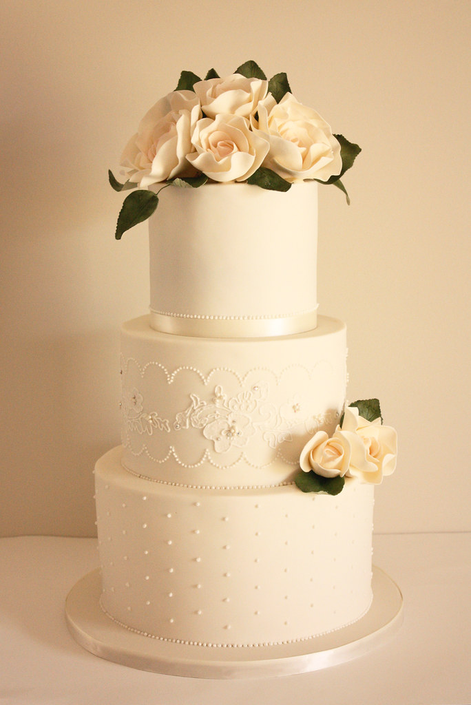 lace wedding cake ivory and lace wedding cake we had a few of our gorgeous 5374