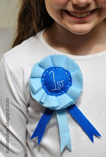 Blue Ribbon Rosette ~ Tutorial | by Rosina Huber
