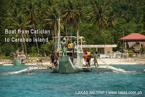 Boat from Caticlan to Carabao Island | Boat from Caticlan ...