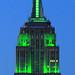 Empire State Building all in green for Rocky Mountain Institute 30th Anniv