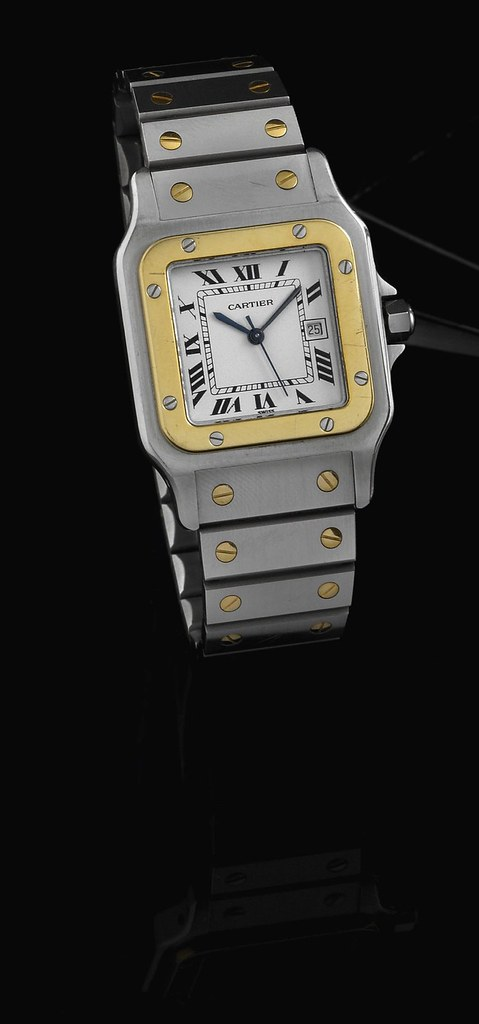 Cartier Santos  Diamond Mens Watch