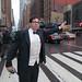David Klass hails a cab with class