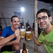 Michael and Stephen at Bia Hoi place in Vinh Long