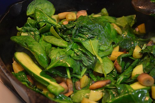 chopped spinach to saute | by mhk4