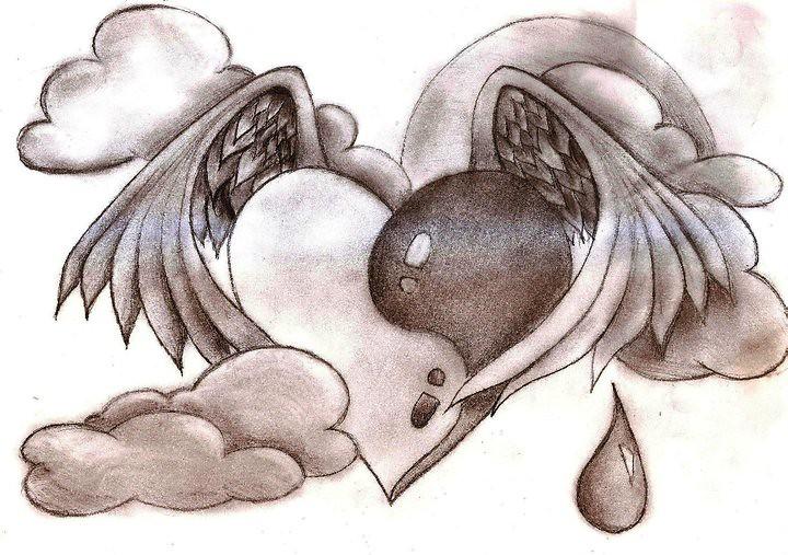 imagenes de corazones hechos a lapiz - IMG MLP