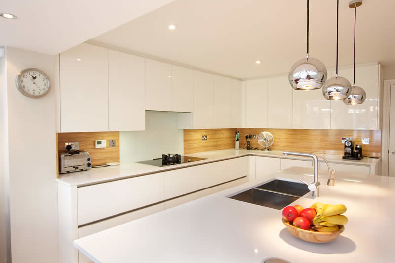 Kitchens With White Cabinets Grey Island And Quartz Counters